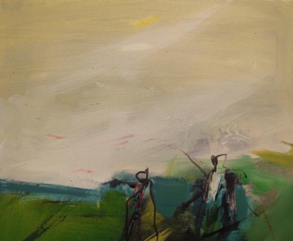 18. 46x38 - Olja på duk av Jan Ed